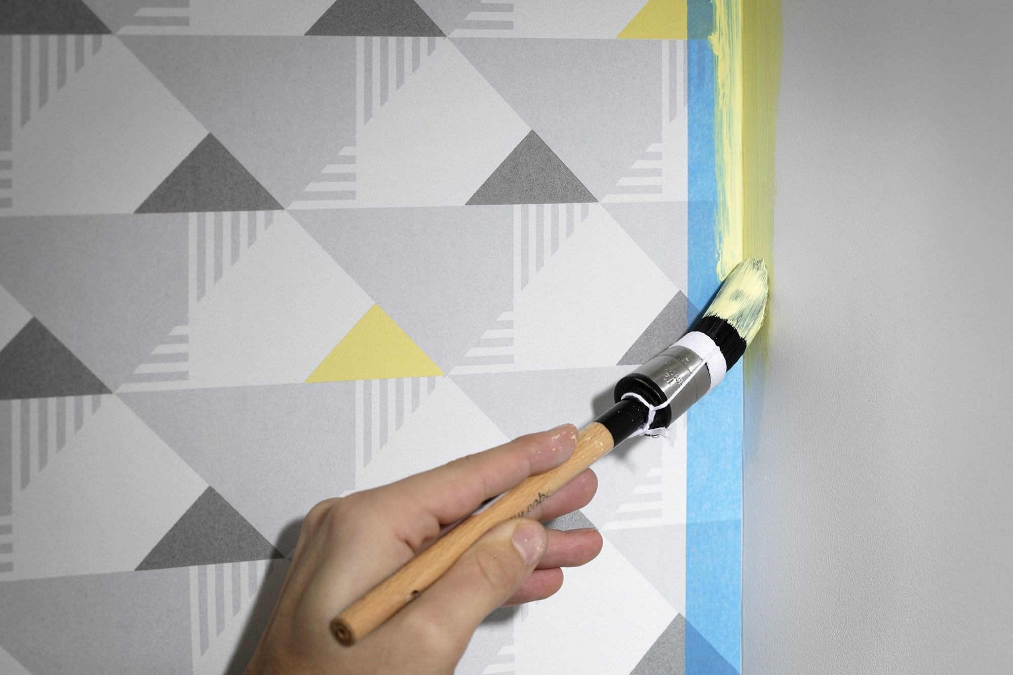 hoe plak je je muren af met afplaktape