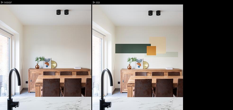 kleuradvies van colora - kleurvlakken combineren