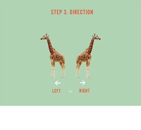 Hoe kies je een muursticker: stap 3, kijkrichting