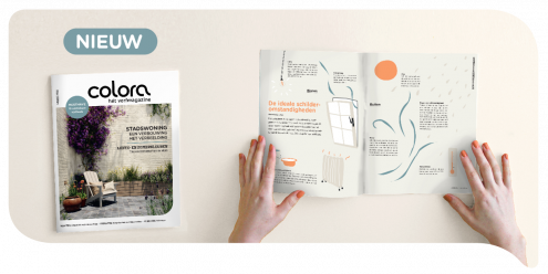 Haal wooninspiratie of kleur- en verftips uit het nieuwe lentenummer van het colora magazine
