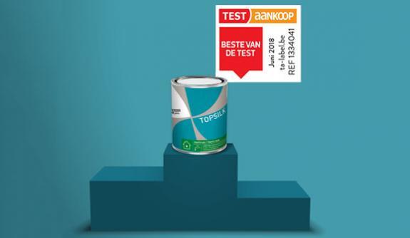 Test Aankoop bekroont Topsilk als Beste verf van de Test