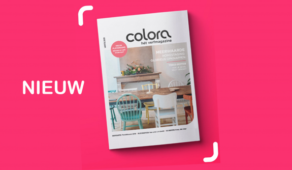 Haal wooninspiratie en verftips uit het gloednieuwe colora magazine