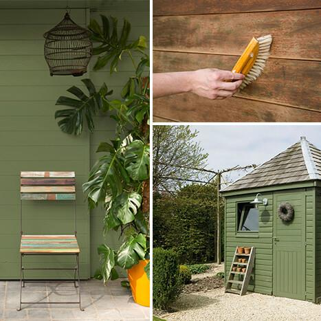 Een tuinhuis schilderen, hoe doe je dat?
