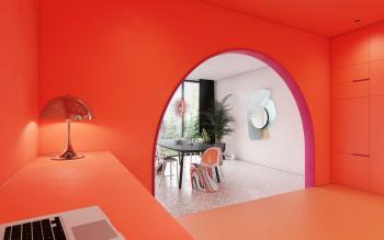 Maak een statement en verf een kamer in één kleur