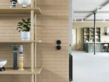 Gevelverf kan ook binnen op bakstenen muren gebruikt worden voor een natuurlijker uitzicht