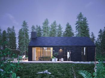 Uniek lichtspel van natuurlijk en donker gebeitst hout.