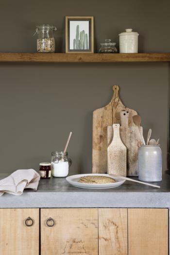 Je keukenmuur bruin schilderen