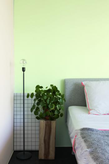 Schilder je slaapkamer groen