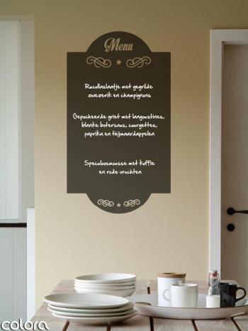 Muursticker blackboard menu