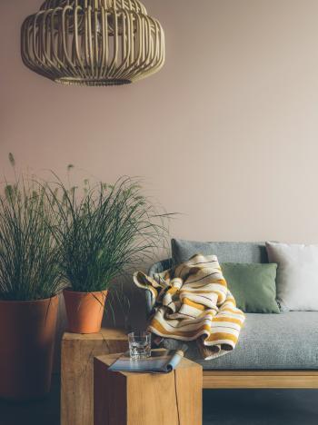 Een neutrale, effen verfkleur in je woonkamer