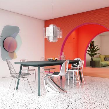 Toon je creativiteit met een accentmuur in de eetkamer