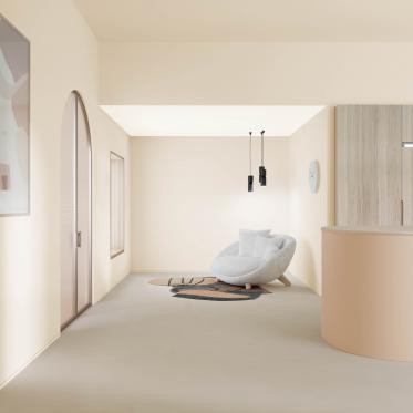Deur mee schilderen met de kleur van de muur zorgt voor optisch verruimend effect