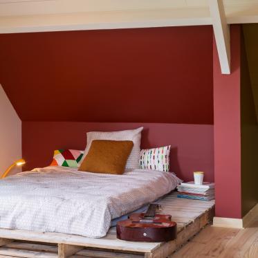 Schilder je slaapkamer rood