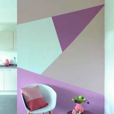 Schilder je muur in pastelkleuren