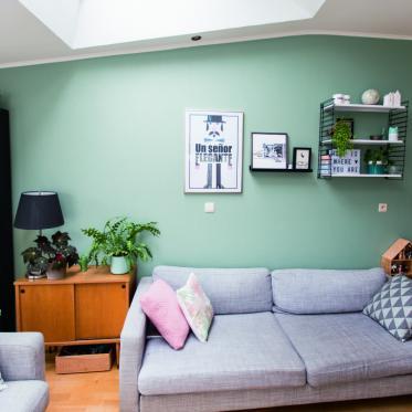 Schilder je woonkamer groen