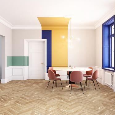 Mix en match sprankelende verfkleuren in je woonkamer