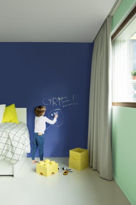 Schilder je slaapkamer blauw groen
