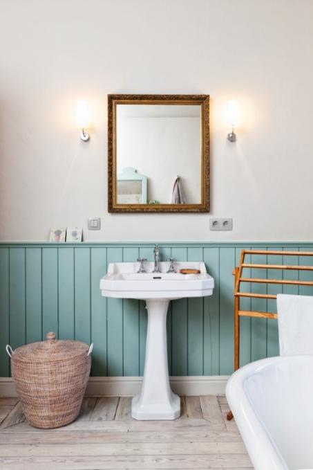 Badkamer blauw schilderen - colora.be