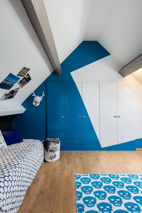 Schilder je slaapkamer blauw