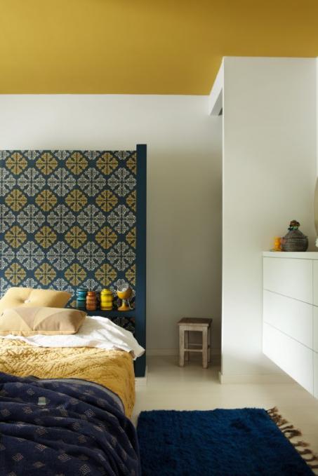 Schilder je slaapkamer geel. - colora.be