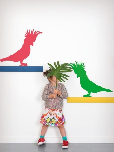 Muursticker papegaai