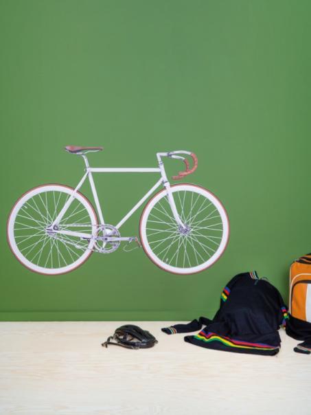 Muursticker retro fiets