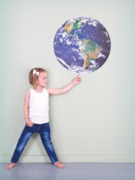 Muursticker aarde