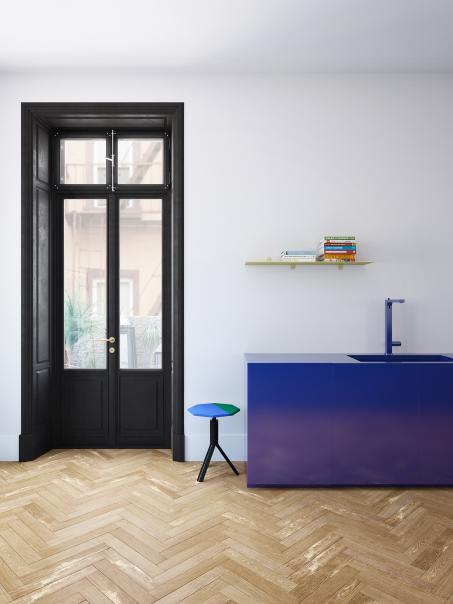 Speel met kleur in de keuken en kies voor levendig blauw