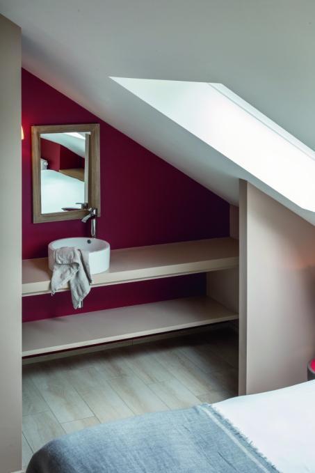Schilder je badkamer rood