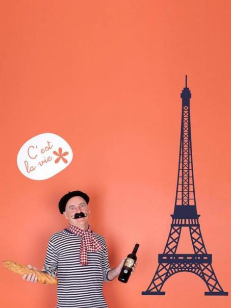 Muursticker Eiffeltoren