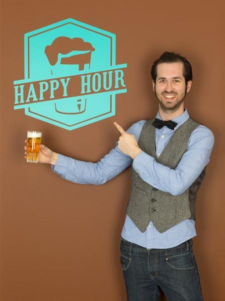 Muursticker Happy Hour