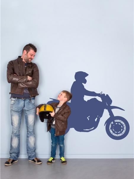 Muursticker motorcrosser
