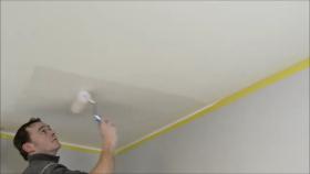 Plafond schilderen zonder strepen
