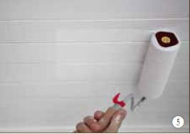 Hoe schilder je een houten plafond?
