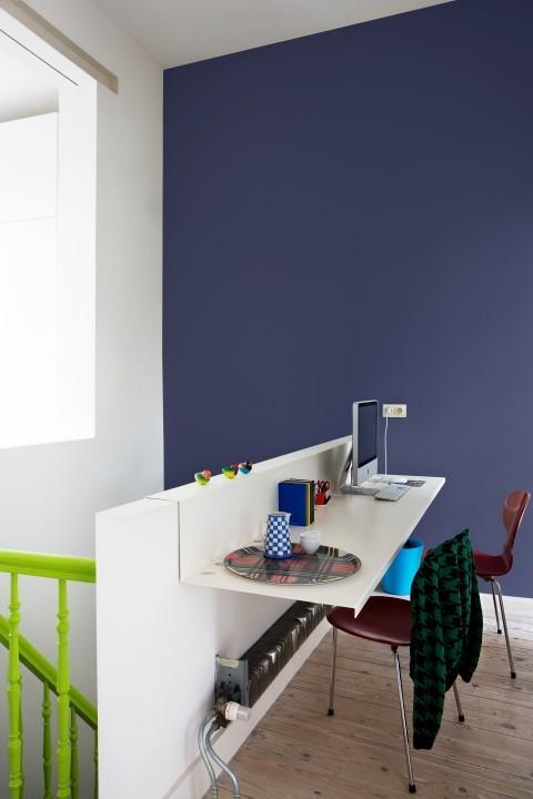 blog je muur schilderen in een accentkleur. Black Bedroom Furniture Sets. Home Design Ideas