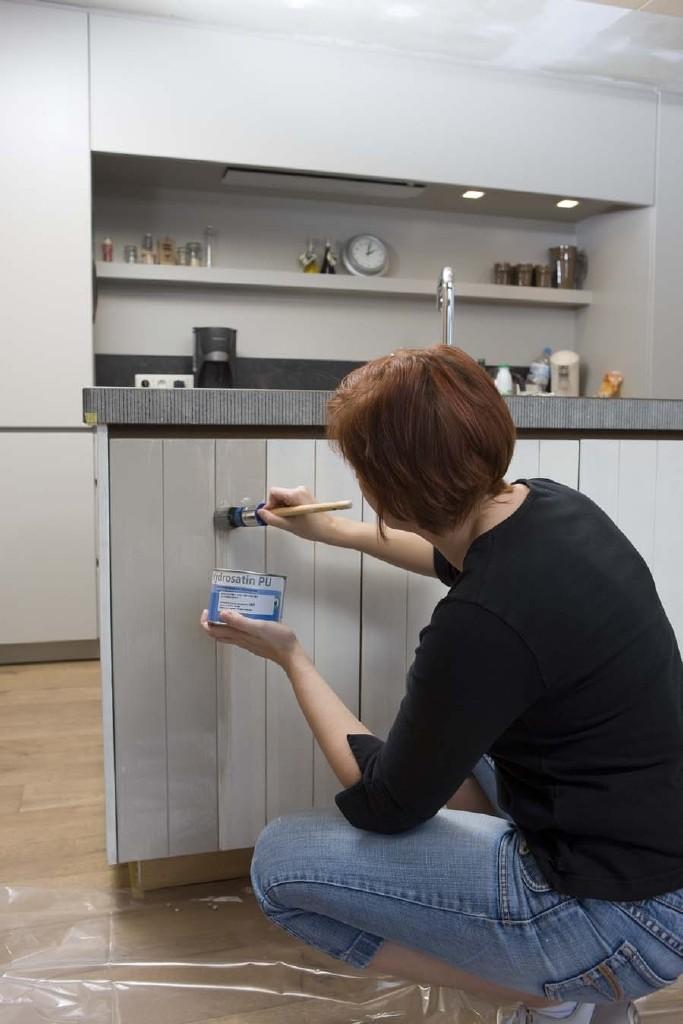 keukenkast schilderen